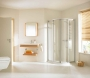 Hüppe Alpha íves tolóajtós zuhanykabin 80*80 QTR mattezüst/üveg