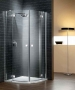 Radaway Almatea PDD nyíló ajtós zuhanykabin 80*80 króm/üveg