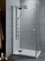Radaway Almatea KDJ 1  ajtós zuhanykabin 80*80 króm/üveg