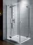 Radaway Almatea KDD 2 nyíló ajtós zuhanykabin 100X100 króm/üveg