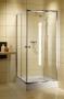 Radaway Dolphi Classic C tolóajtós zuhanykabin 80X80 fehér/barna