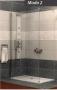 Radaway MODO 2 zuhanyfal 800 króm/üveg