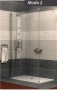 Radaway MODO 2 zuhanyfal 1400 króm/üveg