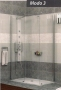 Radaway MODO 3 zuhanyfal 1400X800 króm/üveg