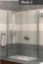 Radaway MODO 3 zuhanyfal 1600X800 króm/üveg
